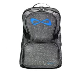 Nfinity Grey Sparkle Royal Blue Logo Backpack