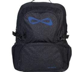 Nfinity Black Sparkle Blue Logo Backpack