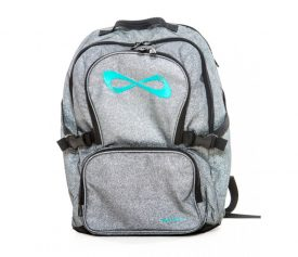 Nfinity Grey Sparkle Teal Logo Backpack