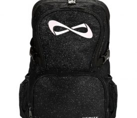 Nfinity Black Sparkle White Logo Backpack