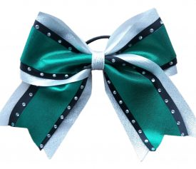 Image of Metallic Green Cheer Bow