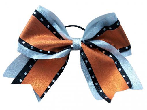 Image of Metallic Orange Cheer Bow