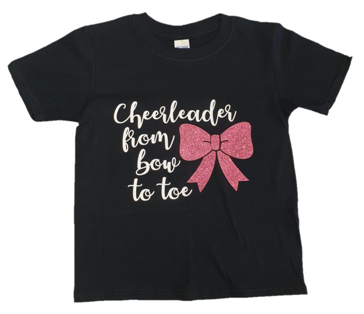 ff9ea46cfe2e Glitter Logo T-Shirt - Cheerleader From Bow To Toe Design - Cheer World