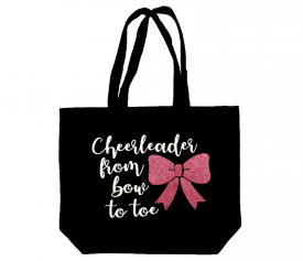 Image of Cheerleader From Bow To Toe Tote Bag
