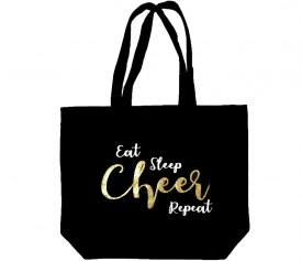 Image of Eat Sleep Cheer Repeat Tote Bag