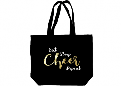 Image of Eat Sleep Cheer Repeat Tote Bag