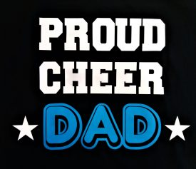 Image of Proud Cheer Dad T-Shirt Logo