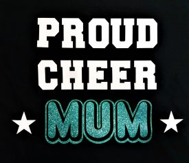 Image of Proud Cheer Mum T-Shirt Logo