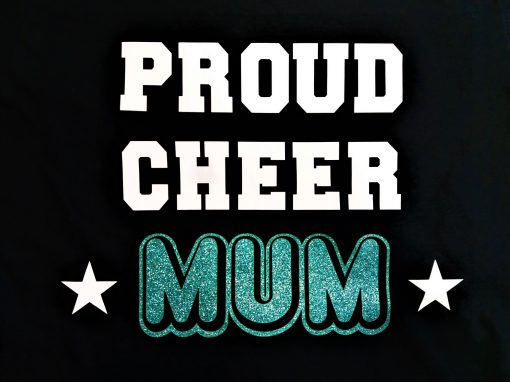 Image of Proud Cheer Mum T-Shirt Logo