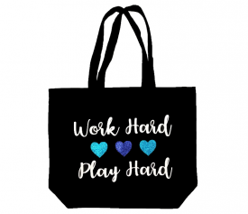 Image of Work Hard Play Hard Tote Bag